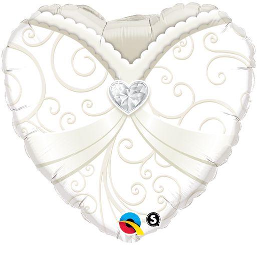 Balão Metalizado Vestido de Noiva Festa Casamento - 18'' - 1 Unidade - Qualatex - Rizzo festas