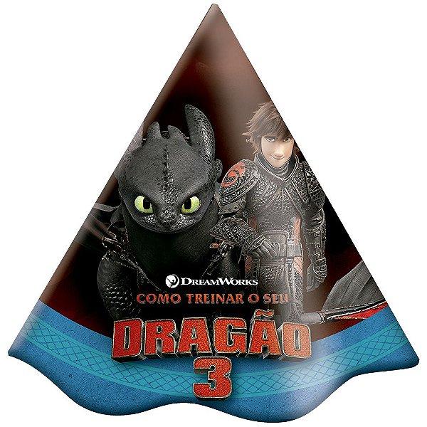 Chapéu Festa Como Treinar o Seu Dragão - 8 unidades - Festcolor - Rizzo Festas