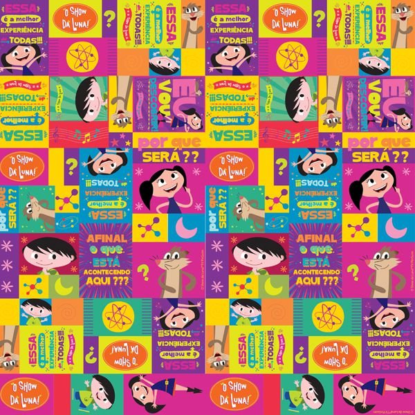 Folha para Ovos de Páscoa Show da Luna 69x89cm - 05 unidades - Cromus Páscoa - Rizzo Embalagens