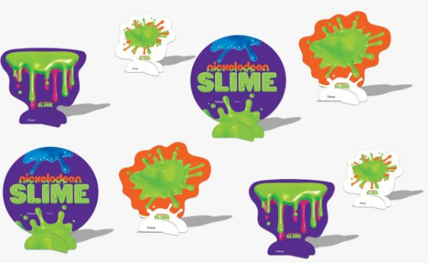 Decoração de Mesa Festa Slime - 8 unidades - Festcolor - Rizzo Festas