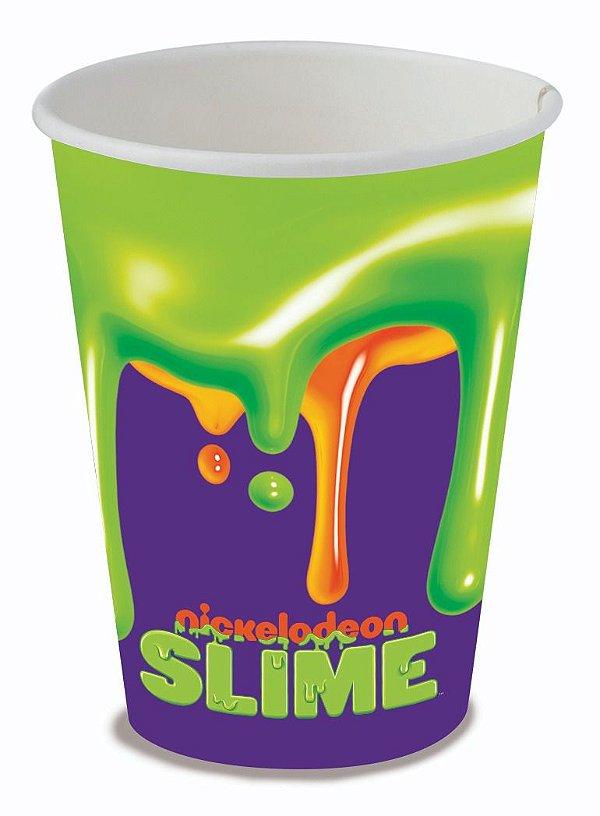 Copo de Papel Festa Slime 200ml - 8 unidades - Festcolor - Rizzo Festas