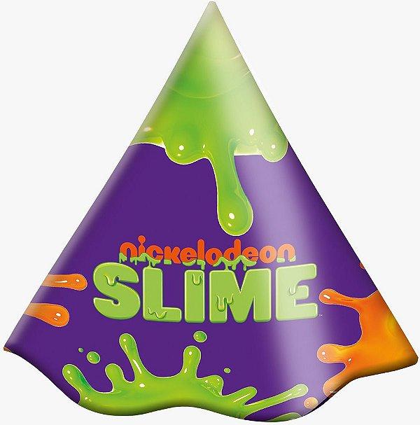 Chapéu Festa Slime - 8 unidades - Festcolor - Rizzo Festas