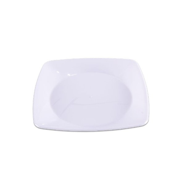 Prato Quadrado Branco Médio - 10 unidades - Prafesta - Rizzo Embalagens