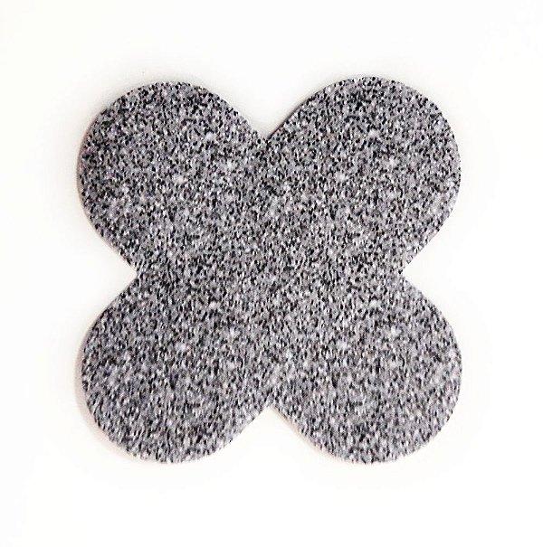 Forminha para doces 4 Pétalas Glitter Prata - 50 unidades -  NC Toys Rizzo Festas