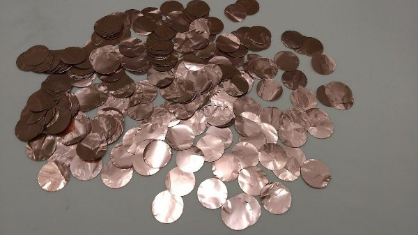 Confete Rosa Claro Metalizado Redondo para Balão - 1cm x 1cm - Estilo e Festas Rizzo Festas