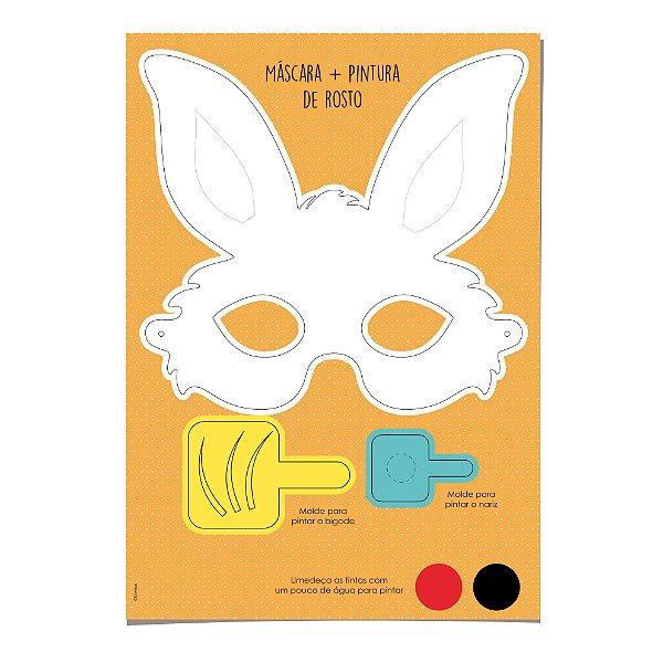 6b4da398f Kit Máscara Coelhinho e Pintura de Rosto - Cromus Páscoa - Rizzo Embalagens