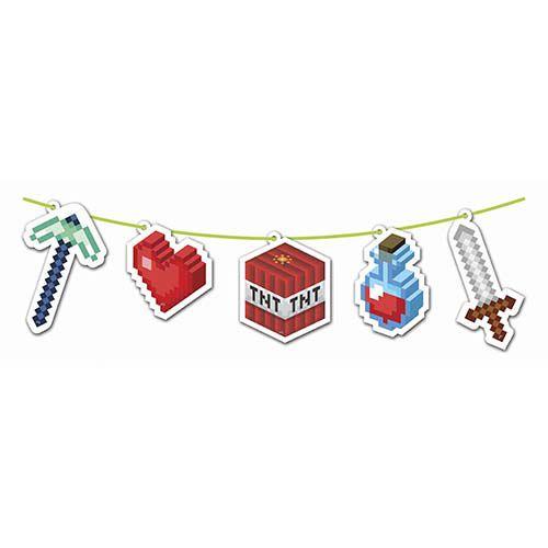 Faixa Decorativa Festa Minecraft - Junco - Rizzo Festas