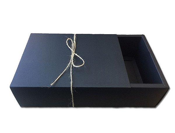 Caixa Presente Preta 27X19X8,5cm - A12 - 1 Unidade  - Rizzo
