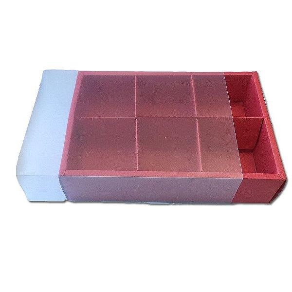 Caixa Pão de Mel Vermelha 23X15,5X5 com 6 divisões - A11 - 1 Unidade  - Rizzo
