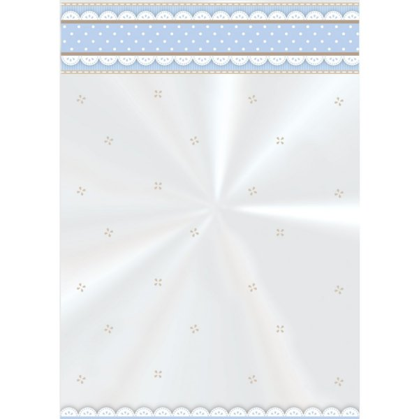 Saco Decorado Cute Azul - 10cm x 14cm - 50 unidades - Cromus - Rizzo Embalagens