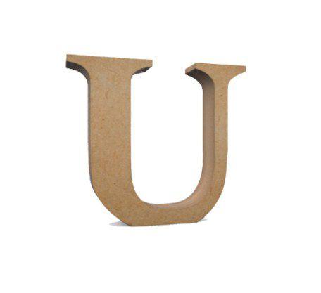 Letra MDF Cru - U - 12x10cm - Rizzo Embalagens