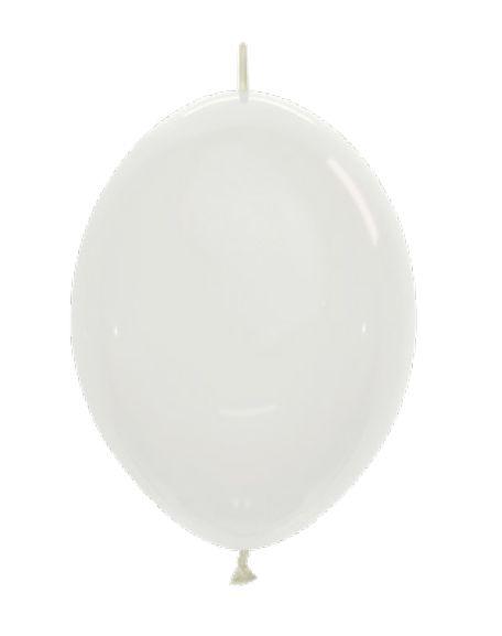Balão de Festa Latex Link-o-Loon 12'' 29cm - Cristal - 50 unidades - Sempertex Cromus - Rizzo Festas