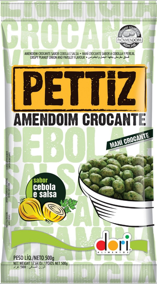 Amendoim Crocante Sabor Cebola e Salsa 500g Dori Rizzo Festas