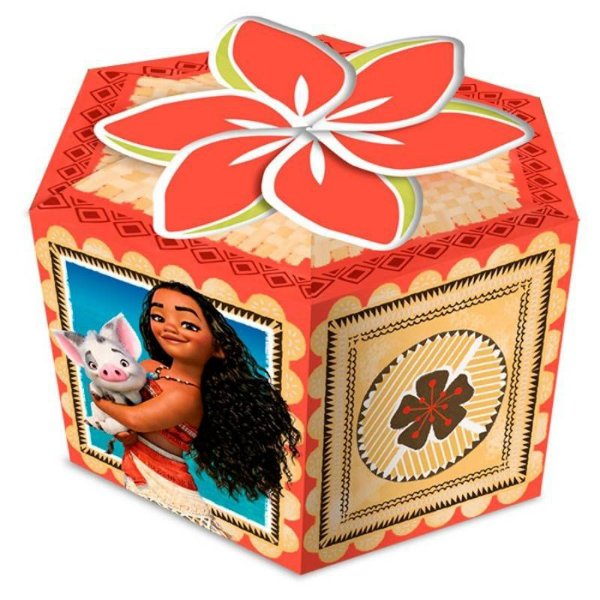 Caixa Surpresa Festa Moana - 8 unidades - Regina - Rizzo Festas