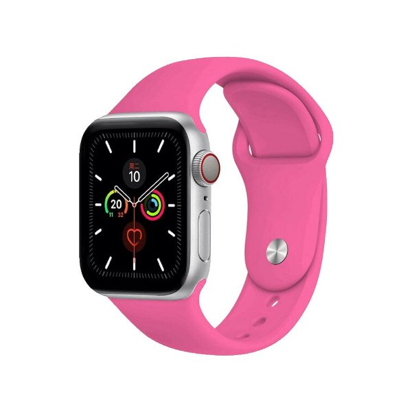 Pulseira Apple Watch Silicone - Rosa Chiclete