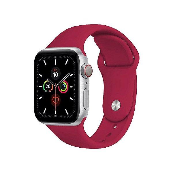 Pulseira Apple Watch Silicone - Vermelho Rosado