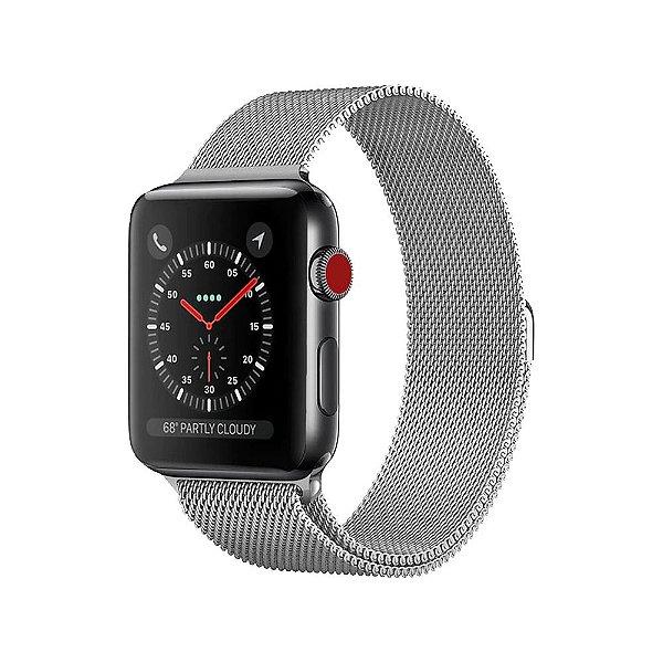 Pulseira Apple Watch Milanese - Prata