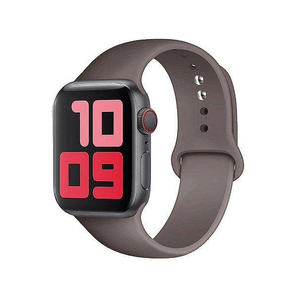 Pulseira Apple Watch Silicone - Cinza Costeira