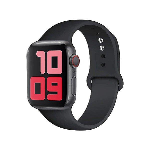 Pulseira Apple Watch Silicone - Preta