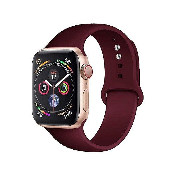 Pulseira Apple Watch Silicone - Vermelho Vinho