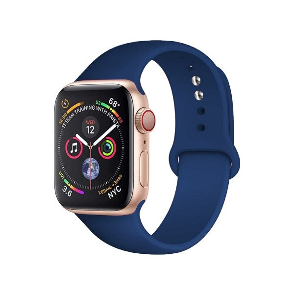 Pulseira Apple Watch Silicone - Azul Cobalto