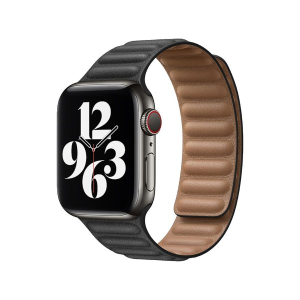 Pulseira Apple Watch Elos em Couro - Preto