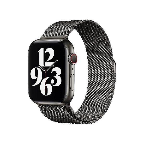 Pulseira Apple Watch Milanese - Pólvora