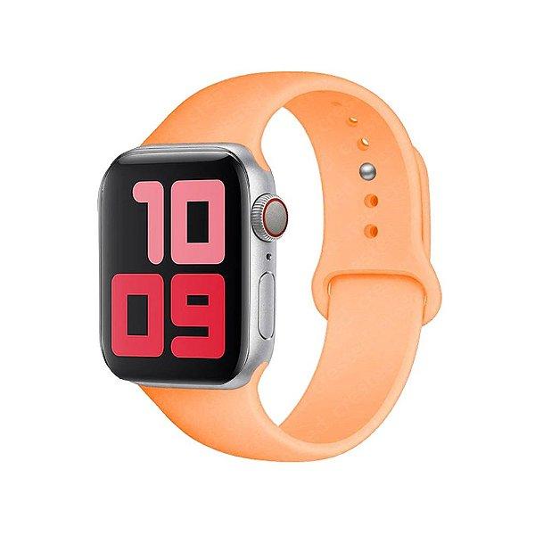 Pulseira Apple Watch Silicone - Pêssego