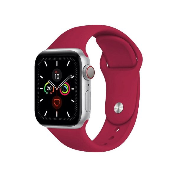 Pulseira Apple Watch Silicone - Rosa Vermelha