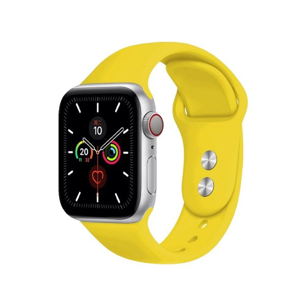 Pulseira Apple Watch Silicone - Amarela