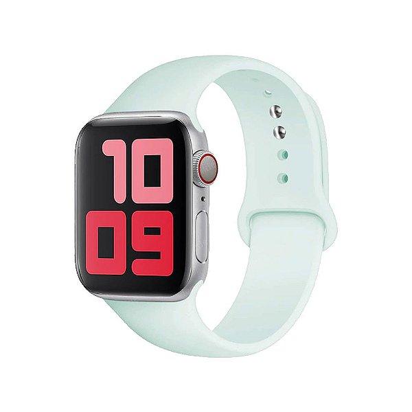 Pulseira Apple Watch Silicone - Espuma do mar