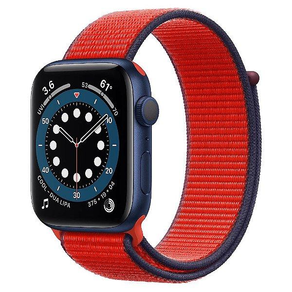 Pulseira Apple Watch Sport Loop - Vermelha e Azul