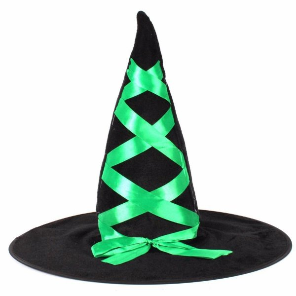 Chapéu Bruxa Laço Verde