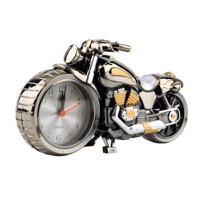 Relógio de Mesa Despertador Formato Moto