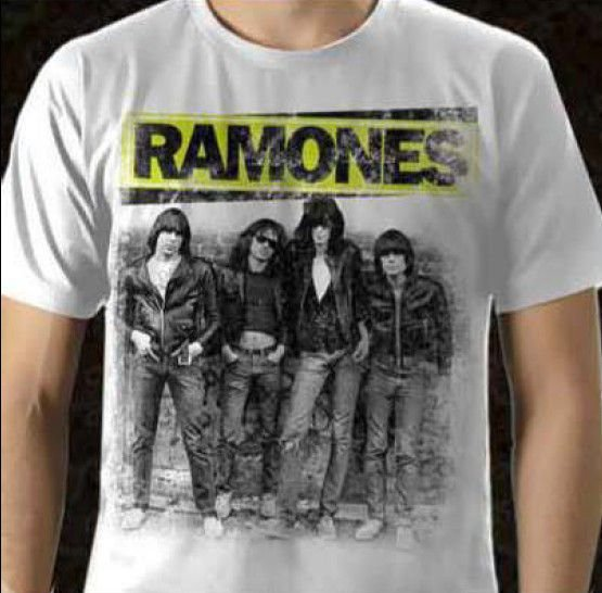 Camisa Ramones - Branca - G