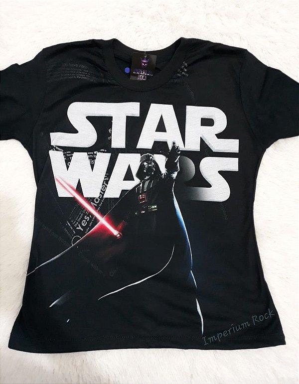 Babylook Star Wars Darth Vader Sublimação Tamanho:M