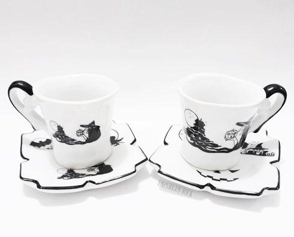 Xícara de café Bruxinha com pires Porcelana
