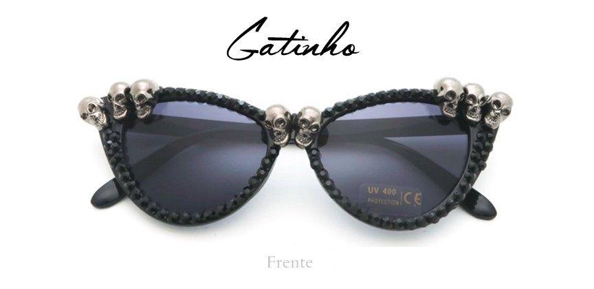 Oculos de Sol Caveira Skull Summer Gatinho