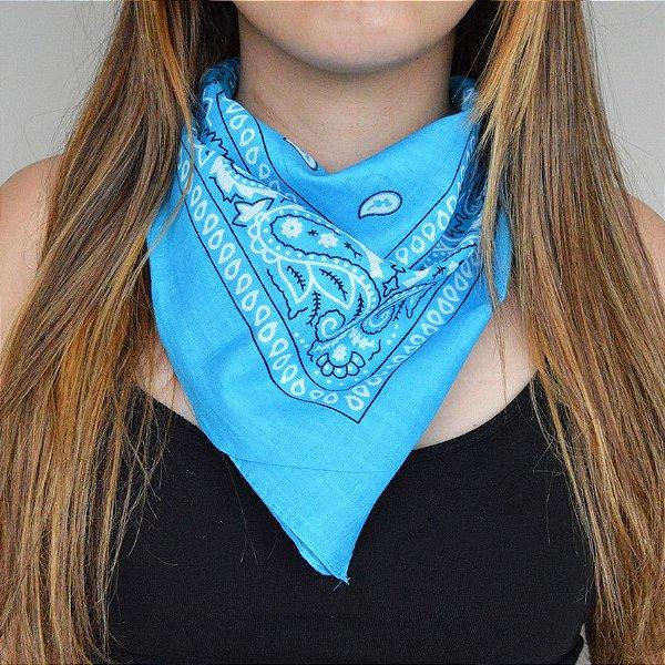 Bandana Indiana Azul