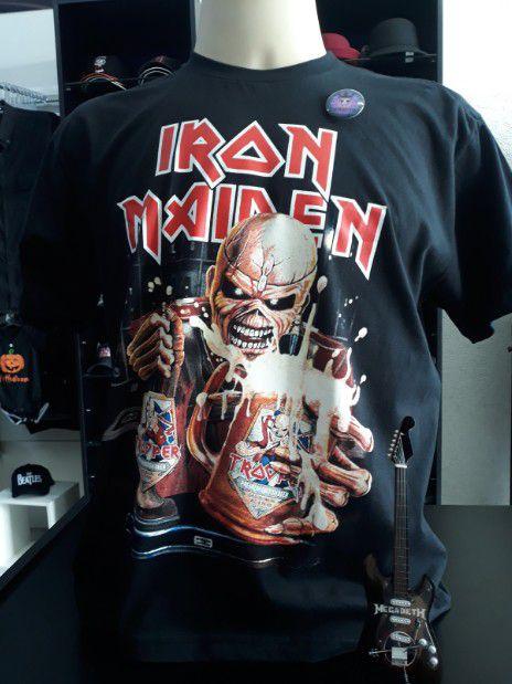 Camisa Iron Maiden Cerveja Beer The Trooper