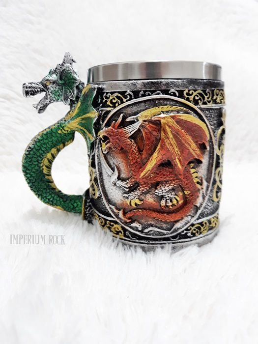 Caneca Dragão Inox e Resina 400ml