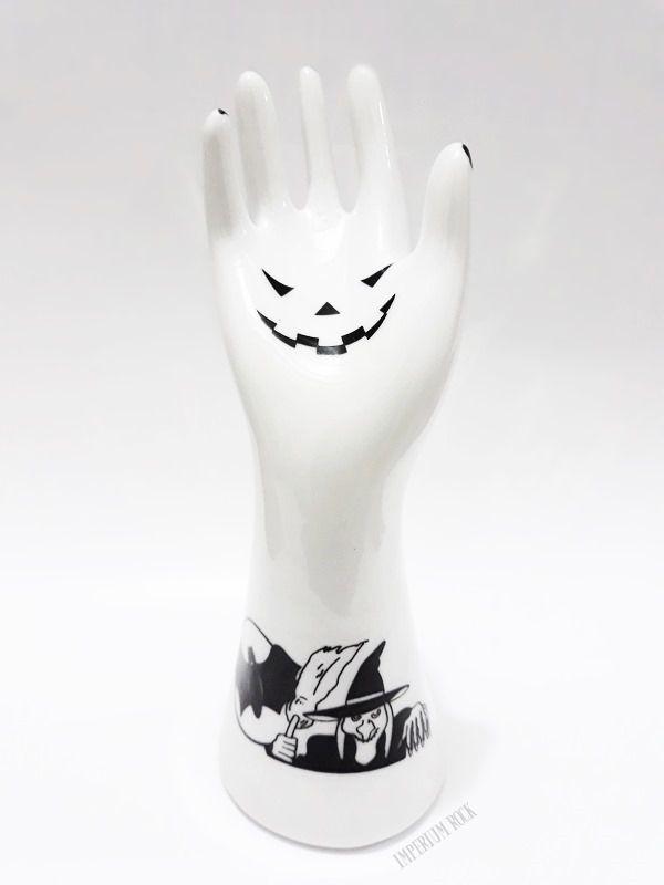 Porta Anel Mão Bruxinha Porcelana