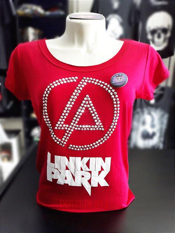 Blusa Linkin Park  Vermelha  Tamanho P