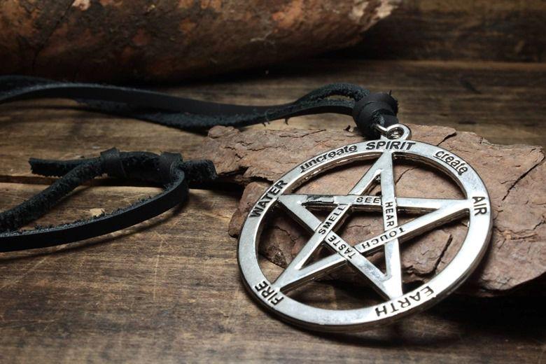Colar Pentagrama 5 Elementos