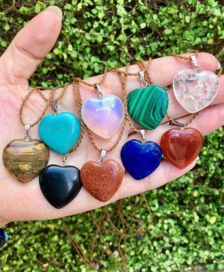 Colar Coração de Pedra