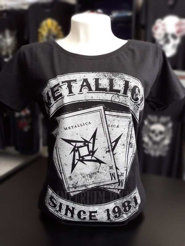 Baby Look Metallica Cartas Letters
