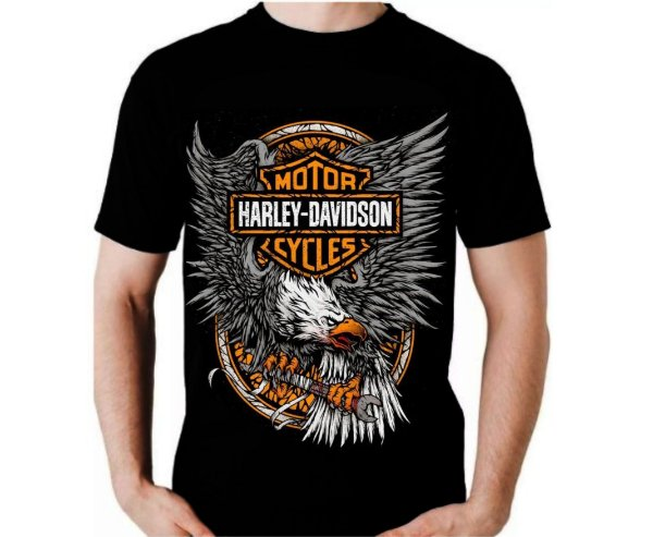 Camisa Harley Davidson Águia Cinza