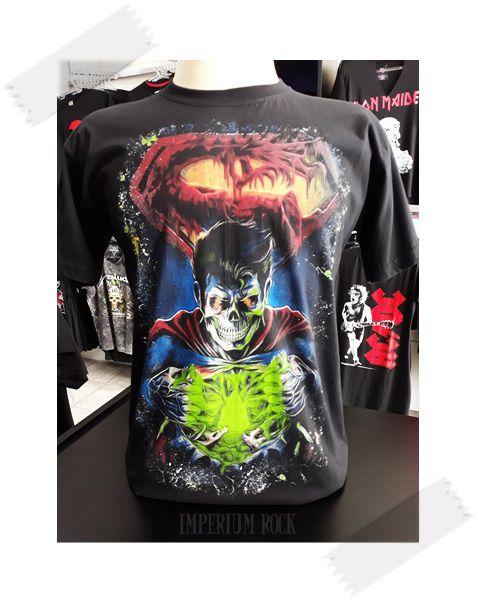 Camisa Super Homem Bizarro Caveira Tamanho G