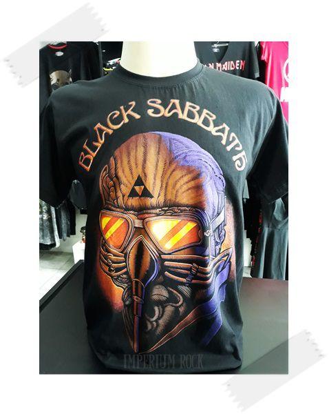 Camisa Black Sabbath Never Say Die! Máscara Colorida