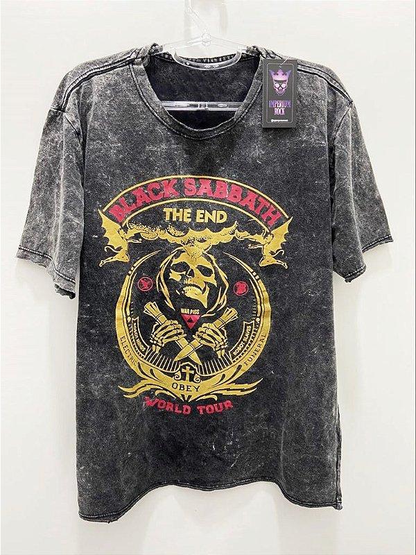 Camisa Estonada Black Sabbath War Pigs